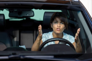 Driver with road rage