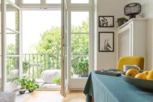 Condominium Interior With Balcony