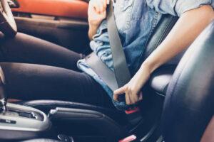 Driver securing seat belt