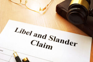 Paper Titled Libel And Slander Claim