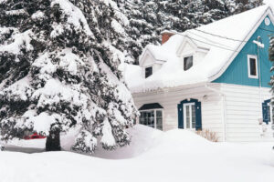 House after a snowstorm