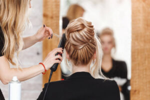 Professional styling hair