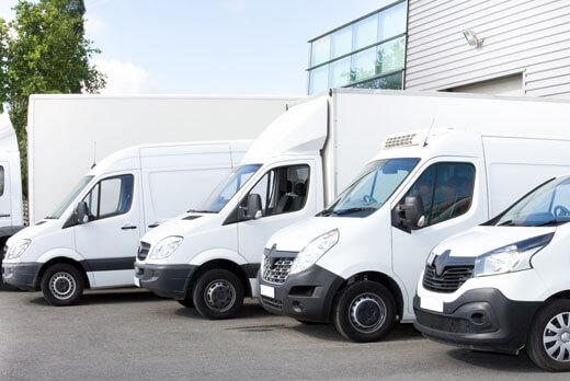 Commercial vans and trucks