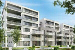 Modern condominium buildings