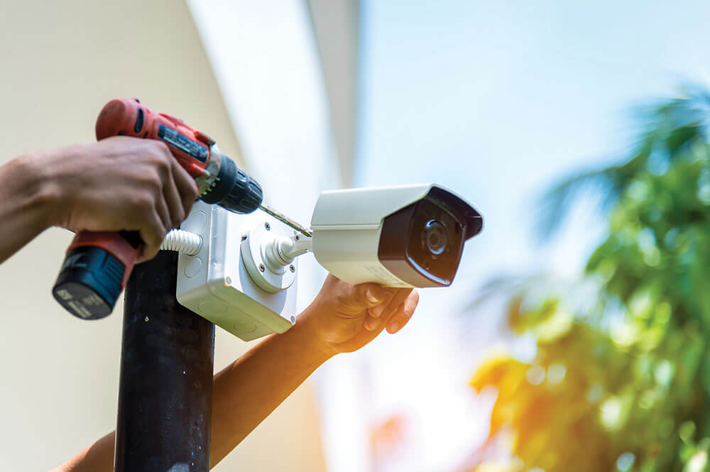 Installing a home security camera