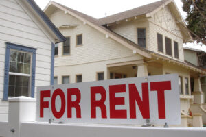 For rent sign outside of property